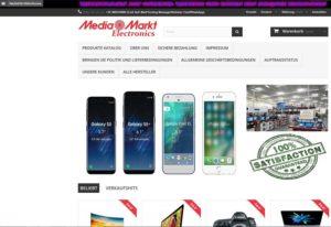 Fake-Shop mediamarktelectronics (Screenshot mediamarktelectronics.com)