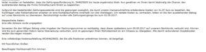 Inkasso-Drohung von OnlinePayment GmbH