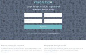 Kinoplexx Anmeldung ohne Hinweis (Screenshot kinoplexx.com)