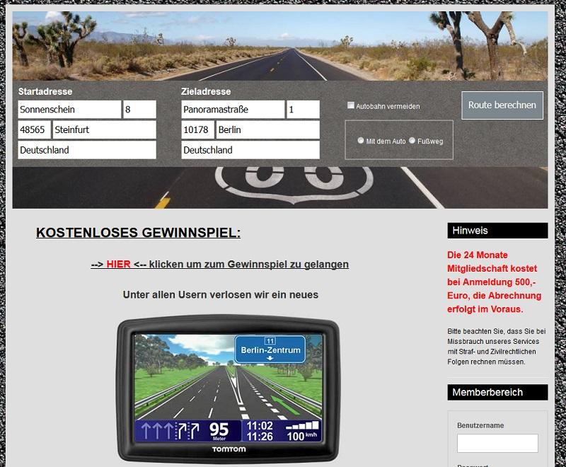 Abo-Falle maps-routenplaner.pro (Screenshot: maps-routenplaner.pro)