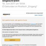 """Vorsicht vor Amazon-Phishing: """"Ihre Sicherheit und Ihr Wohlbefinden"""""""