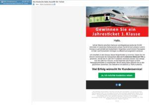 Deutsche-Bahn-Spam-Gewinnspiel (Screenshot)