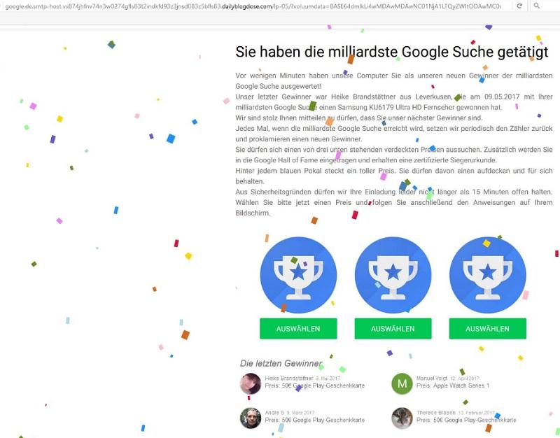 Google Preis Gewonnen
