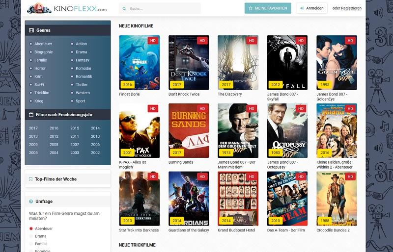 Die Seite Kinoflexx.com (Screenshot)