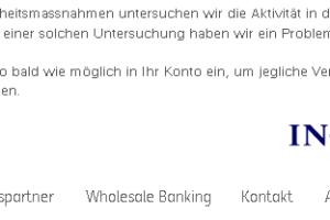 "ING-DiBa-Phishing: ""Untersuchung der Aktivität im Banking System"""