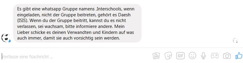IS-WhatsApp-Gruppe? (Screenshot: Facebook)