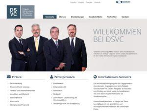 Kanzlei Delgado Schwarzmann (Screenshot delgado-vila.com)