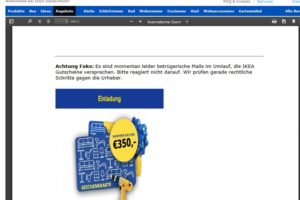 Offizielle Warnung vor Ikea-Gewinnspiel