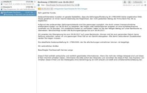 Schon wieder Bank-Pay AG-Mails im Umlauf (Sceenshot)