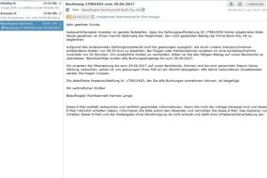 Schon wieder Bank-Pay AG-Mails im Umlauf!
