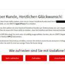 Pop-up-Vodafone-Gewinnspiel ist nicht seriös!
