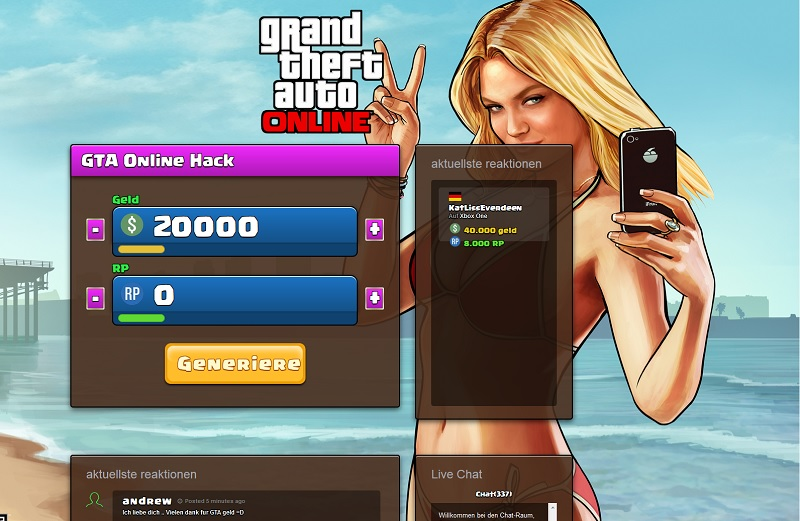 Abo-Falle gta5geld (Screenshot: gta5geld.com)