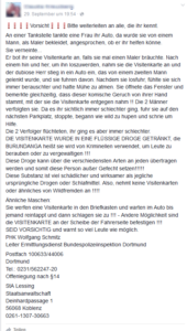 Drogen-Visitenkarte (Screenshot Facebook)