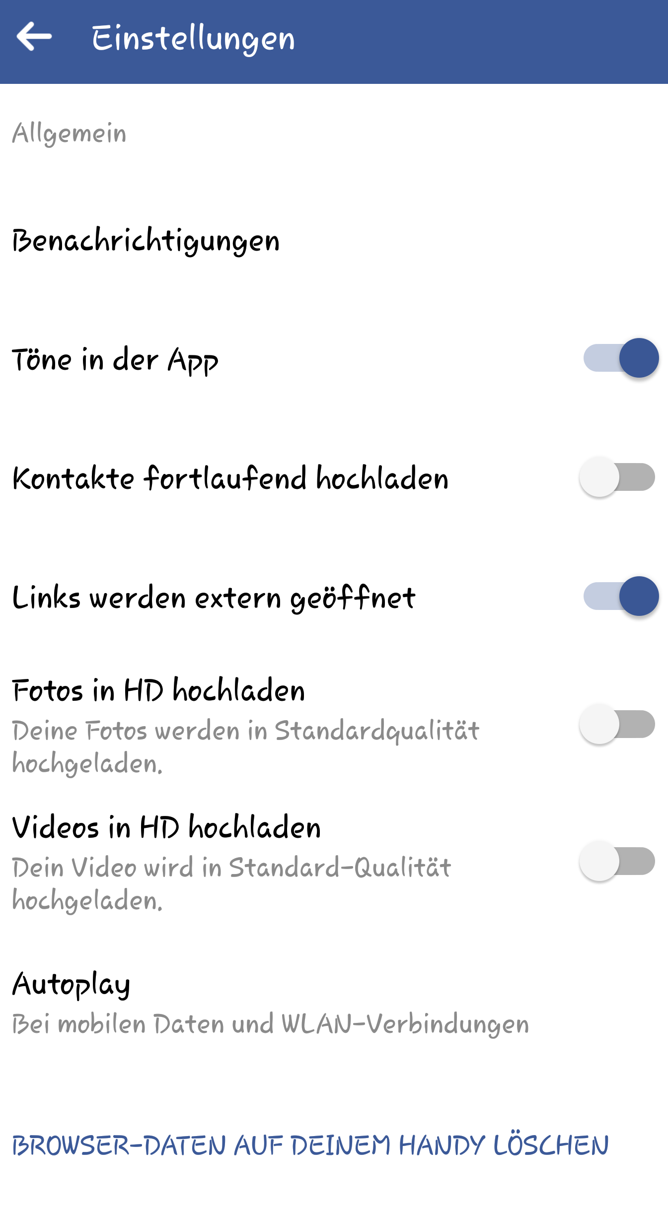 Facebook-App deaktivieren