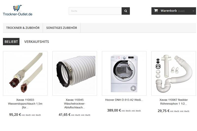 Fake Shop: Trockner-Outlet.de
