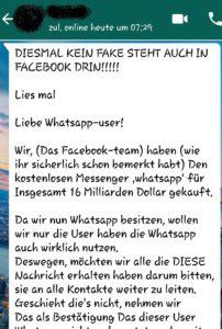 """WhatsApp-Spam: """"Wir haben zu viele Nutzer auf WhatsApp"""" (Screenshot)"""