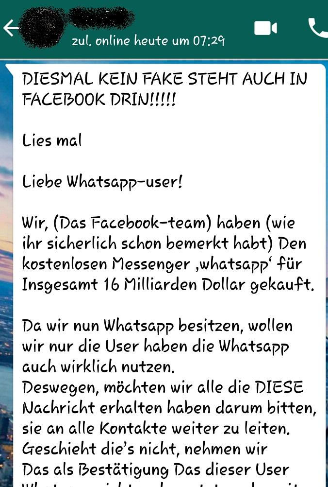nummer gelöscht whatsapp status
