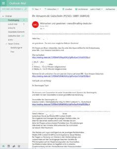 hr Amazon.de Gutschein (Screenshot)