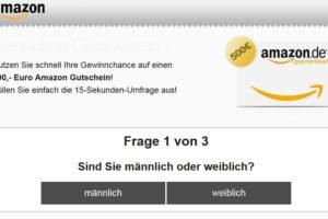 """Spam-Gewinnspiel: """"Ihr Amazon.de Gutschein"""""""