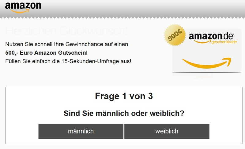 hr Amazon.de Gutschein Gewinnspiel (Screenshot)