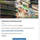 200€-Edeka-Gutschein: Achtung, Spam-Gewinnspiel