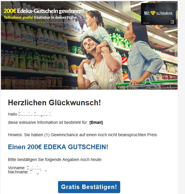 Gewinnspiel Edeka Gutschein