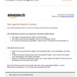 """Amazon-Rechnungsservice: """"Wir bitten um eine erneute Verifizierung."""""""