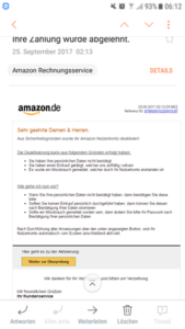 Amazon-Rechnungsservice ist ein Fake! (Screenshot)