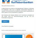 Fake-Mail der Volksbanken Raiffeisenbanken