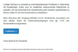 Vorsicht, Volksbanken-Phishing im Umlauf!
