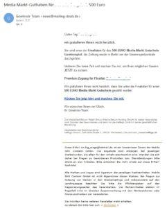 MediaMarkt-Gutschein (Screenshot)
