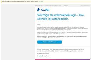 """PayPal-Phishing: """"regelmäßige, zufällige Verifizierungen unserer Kundenkonten"""""""