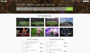 Ticketbörse Viagogo erneut in der Kritik (Screenshot: viagogo.de)