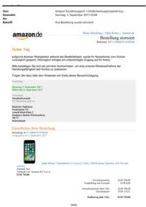 Phishing von Amazon (Quelle: verbraucherzentrale-niedersachsen.de)