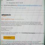 """Amazon-Phishing: """"zuletzt aufgegebene Bestellung annulliert"""""""