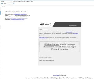 Apple-iPhone-X-Gewinnspiel?! (Screenshot)