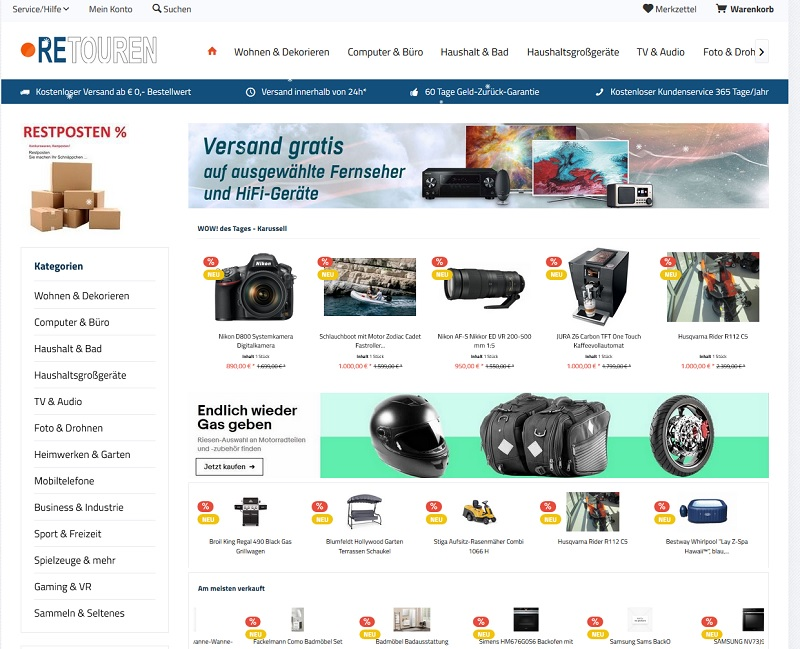 Fake Shop: mediasaturn-abverkauf.club (Screenshot)