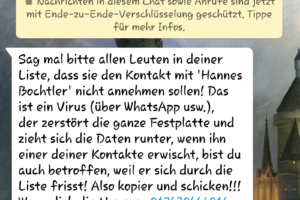 Hannes Bochtler und der WhatsApp-Hoax