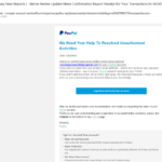 "Achtung, PayPal-Phishing: ""We Need Your Help …"""