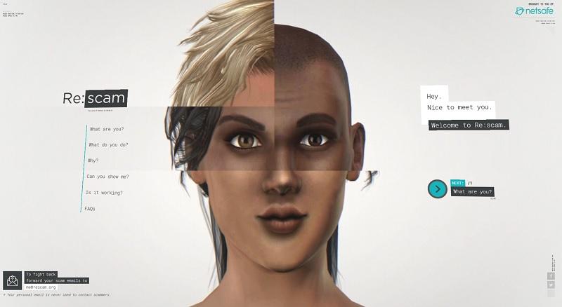 Rescam: Lösung gegen Spam? (Screenshot: rescam.org)