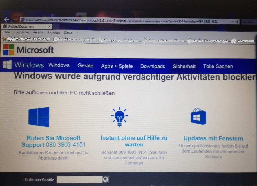Windows-Blockierung?! (Screenshot)