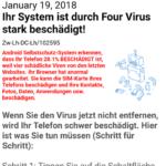 Google Sicherheit – Ihr System ist durch Four Virus stark beschädigt