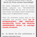 Fake-Viruswarnung per Pop-up: Trojanische Browser-Viren