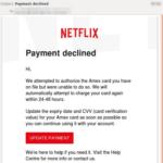 Payment declined: Achtung vor Netflix-Phishing!