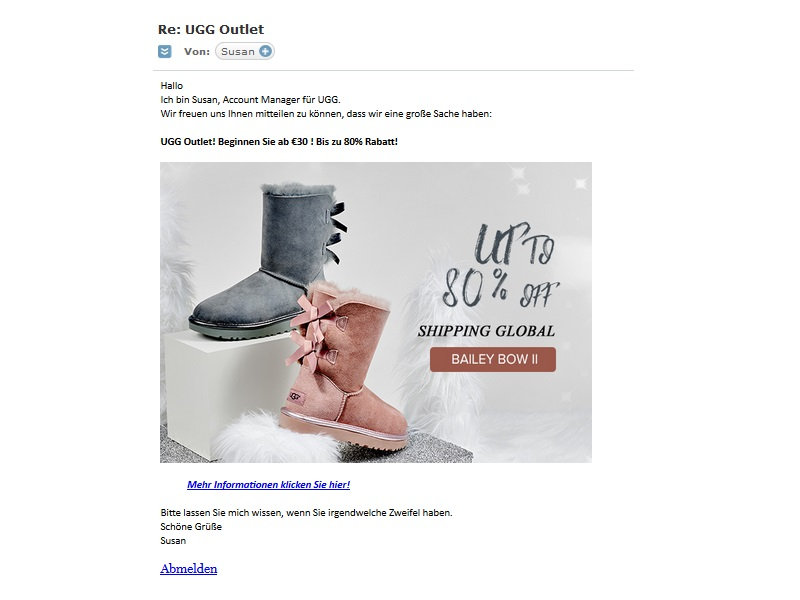 UGG Outlet - Vorsicht! (Screenhot)