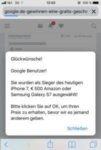 Google-Benutzer-Gewinn - mehr Schein als Sein (Screenshot)
