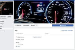 AUDI RS7 - 2018 Gewinnspiel Infoseite (Screenshot Facebook)