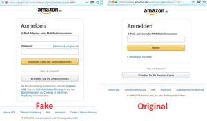 Amazon - Original und Fake (Screenshots)