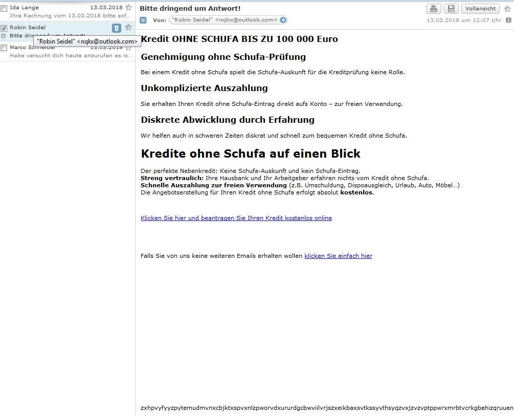 kredit spam von kredit ohne schufa bis zu 100 000 euro anti spam info. Black Bedroom Furniture Sets. Home Design Ideas