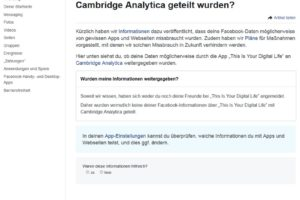 Facebook-Nutzer: Sind Ihre Daten an die Cambridge Analytica geflossen?